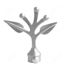 Traditional leaf design ss finial