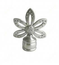 Traditional five petal floral design ss finial