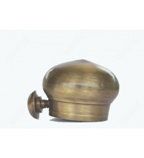 Round shape matt finish antique end cap