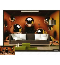 3d shiny chocolate bubbles wall mural