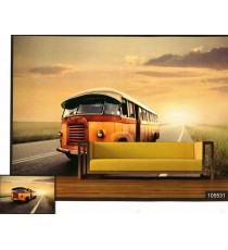 3d luxury old british bus wall mural