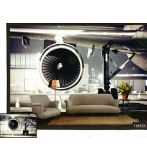 3d rest mood air plain fan wall mural