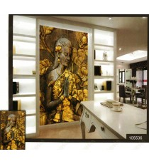 3d praying golden lady wall mural