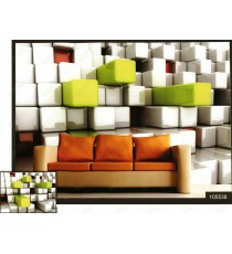 3d shiny rectangle wall beam wall mural