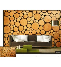 3d cutting tree circle blocks wall mural