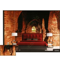 3d big palace balcony pillars wall mural