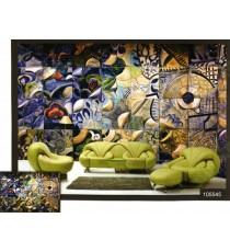 3d crystal parts wall mural