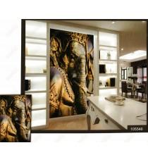 3d shiny eka danta golden ganesha wall mural
