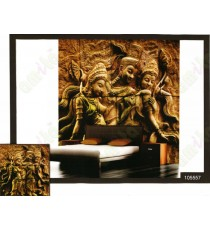 3d golden king with two queens wall murals