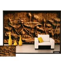 3d golden lotus wall mural