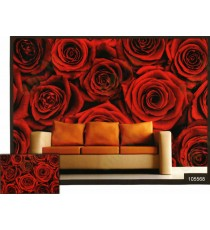 3d beautiful red rose wall mural