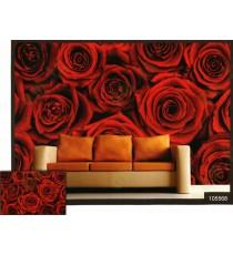 3d beautiful red rose wall mural