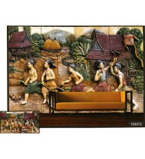 3d playing village kids wall mural