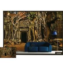 3d old banyan tree root cover palace wal mural