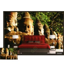 3d ancient chinese soldiers sculpture wall mural