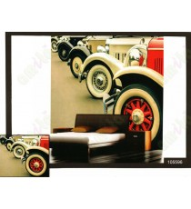 3d colourful henry ford car wall mural