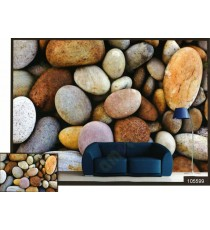 3d fine river stone collection wall mural