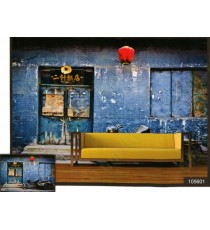 3d old japanese hanging red lamp door wall mural