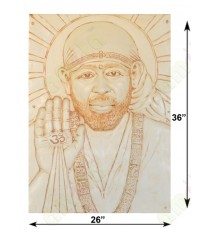 Beige colour blessing sai baba with divine light