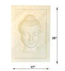 Beige colour 3d buddha frame