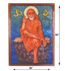 Orange brown blue yellow blessing sirdi sai baba
