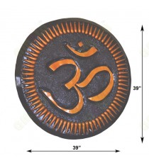 Brown orange colour om round design