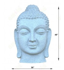 Grey colour stone finish big buddha face