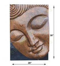 Black brown copper colour big buddha meditation face