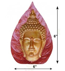 Red yellow colour buddha concave design face