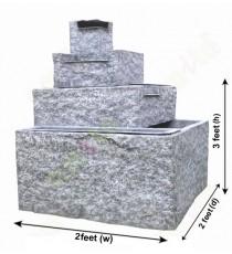 White grey colour big stone finish fountain