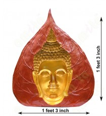Red yellow concave design buddha