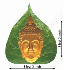 Green yellow concave design buddha