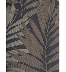 Brown beige ferns home décor wallpaper