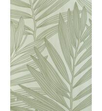 Grey brown ferns home décor wallpaper