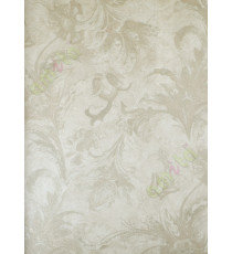 Green beige brown shiny elegant traditional design home décor wallpaper for walls