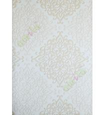 White brown gold elegant vintage pattern home décor wallpaper for walls