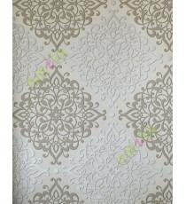 Beige brown grey elegant vintage pattern home décor wallpaper for walls
