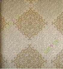 Gold black elegant vintage pattern home décor wallpaper for walls