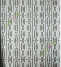 Black silver vertical convex and concave design home décor wallpaper for walls