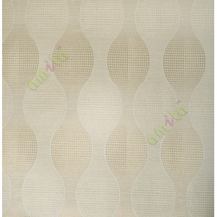 Beige brown colour ogee design home décor wallpaper for walls