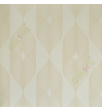 Beige white contemporary vertical crafted cylinder home décor wallpaper for walls