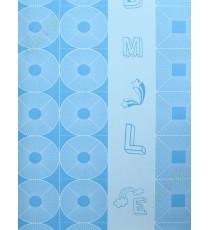 Blue whie geometric alphabets star home decor wallpaper