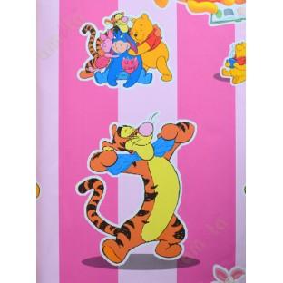 Pink Blue 3d Disney Cartoon Home Decor Wallpaper