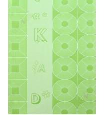 Green geometric alphabets star home decor wallpaper
