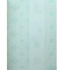 Blue geometric alphabets star home decor wallpaper