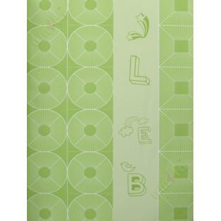 Lime Green Geometric Alphabets Star Home Decor Wallpaper
