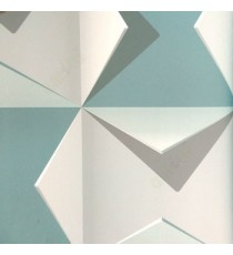 3D finished geometric square folded triangles sharp edge abstract shadow in blue grey white wallpaper