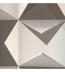 3D finished geometric square folded triangles sharp edge abstract shadow in grey white black wallpaper