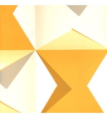 3D finished geometric square folded triangles sharp edge abstract shadow in yellow white grey wallpaper