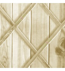 Beige brown grey color natural wooden planks wood support x crossing woods 3D finished wallpaper